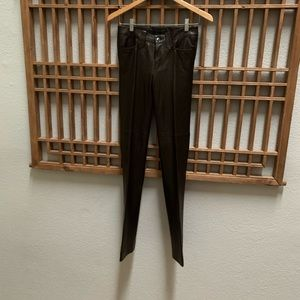 Black label Ralph Lauren leather pants